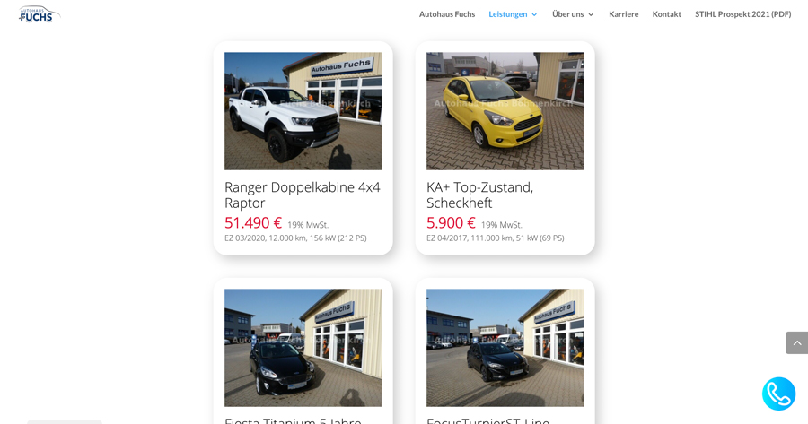 Wordpress mobile.de Plugin Einbindung